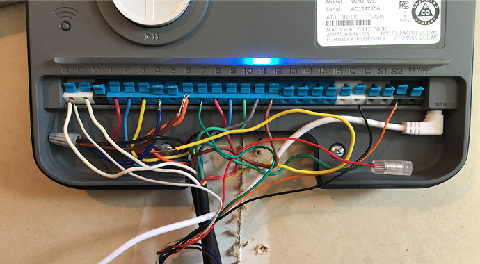 Rachio wiring