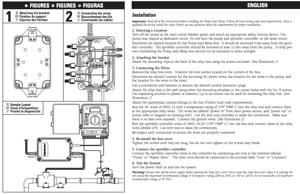 water master sprinkler timer instructions