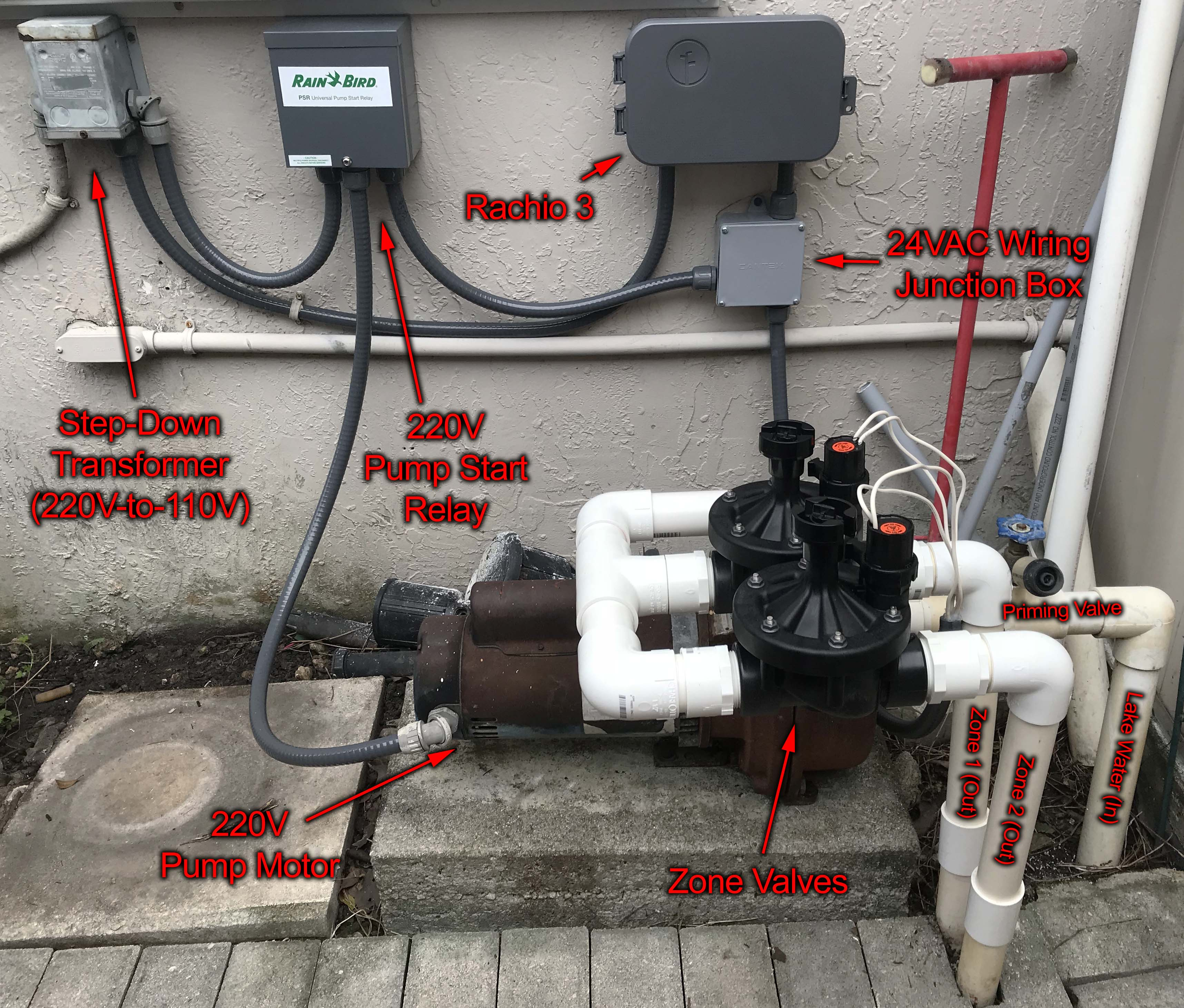 Installation of Rachio 3 with Pump Motor & Electric Zone ... on
