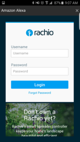 Rachio With Alexa Is Not Working Correctly Smart Home