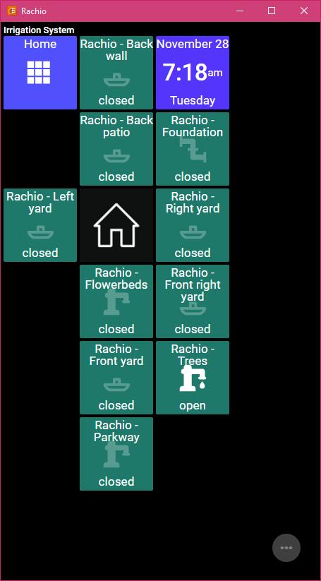 ActionTiles as Rachio Dashboard - Hacks & Magic - Rachio